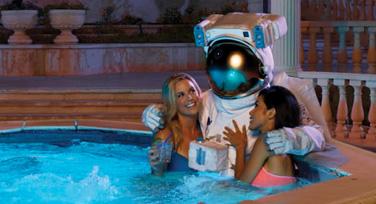 Axe - astronauta en jacuzzi