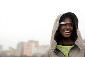 Google Glass gafas puestas