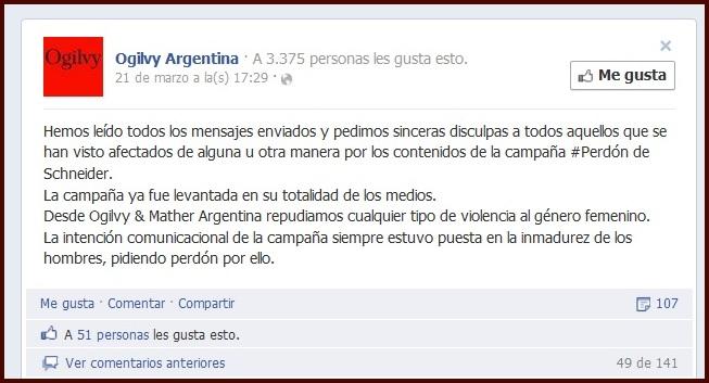 Perdón Facebook Ogilvy Argentina