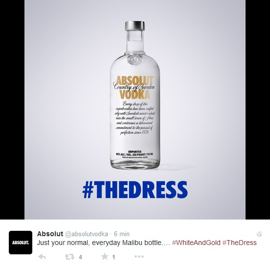 #TheDress Absolut