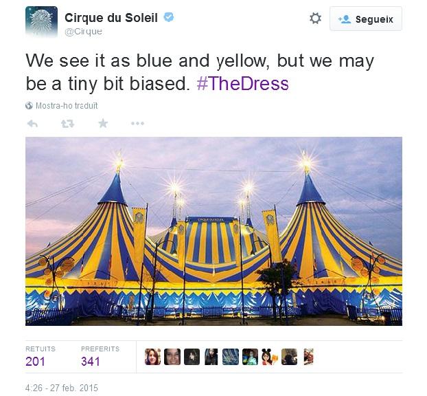 #TheDress Cirque du Soleil