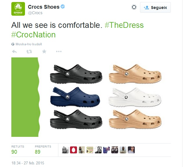 #TheDress Crocs Shoes