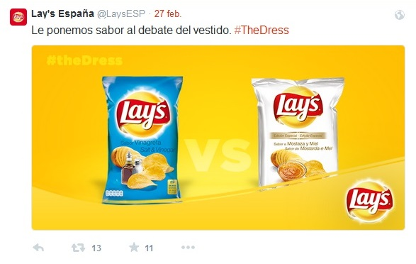 #TheDress Lay's España
