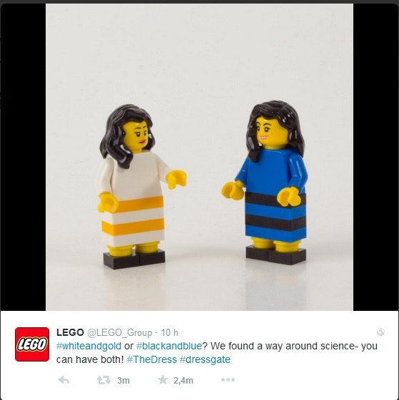 #TheDress Lego