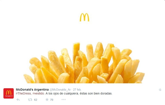 #TheDress McDonald's Argentina