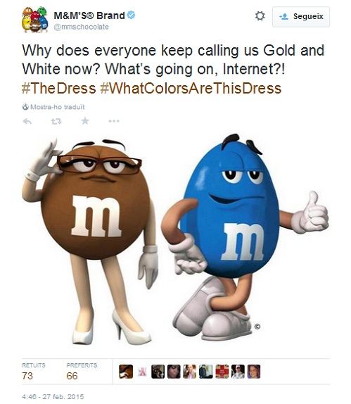 #TheDress M&M