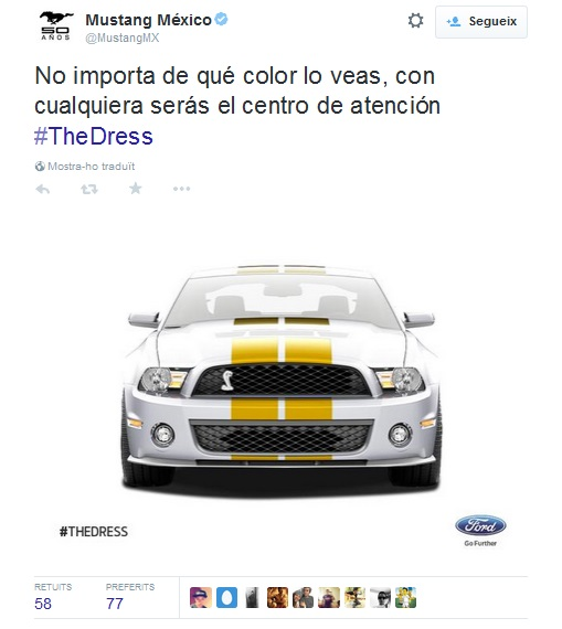 #TheDress Mustang México