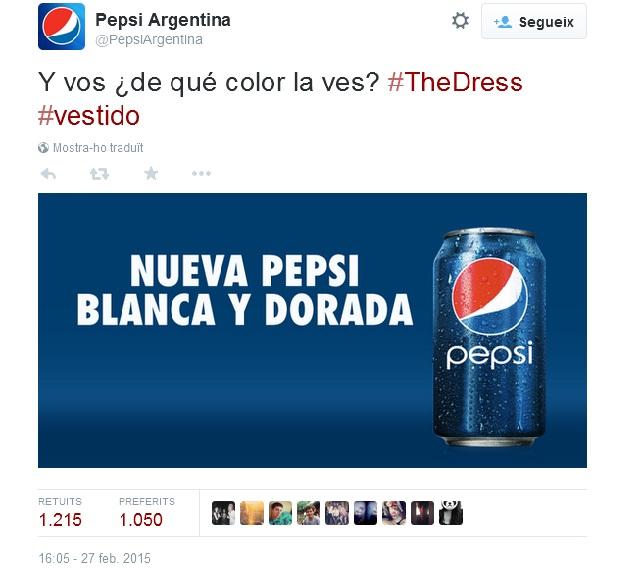 #TheDress Pepsi Argentina