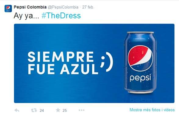 #TheDress Pepsi Colombia