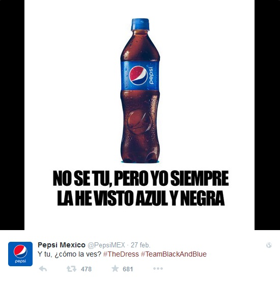 #TheDress Pepsi Mexico