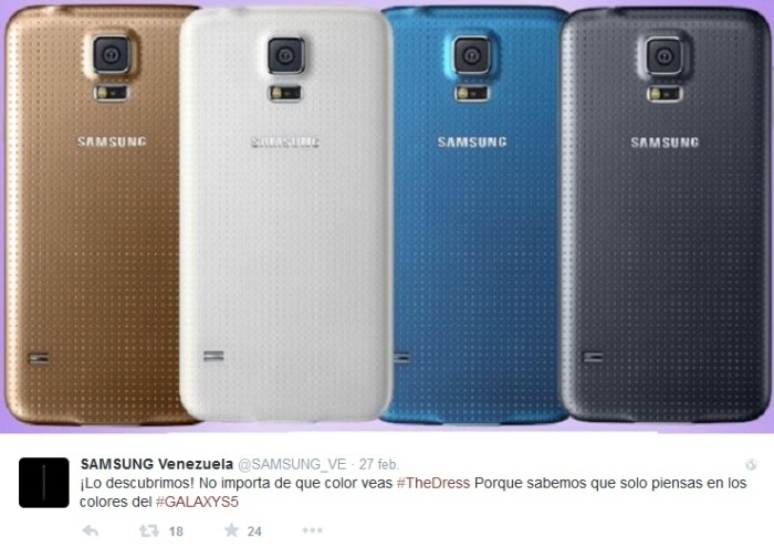 #TheDress Samsung Venezuela
