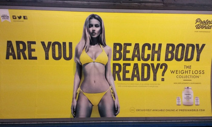 Protein World_anuncio metro Londres