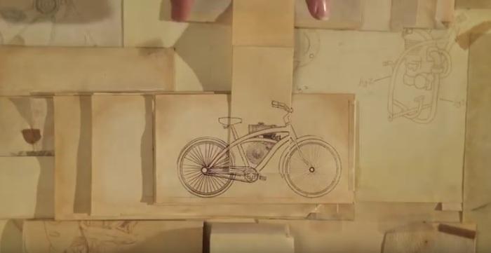 Boceto motocicleta Honda - Paper