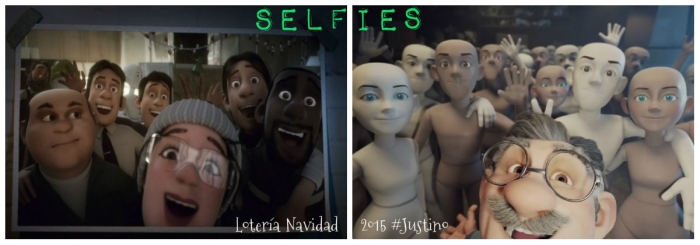 Loteria Navidad 2015 Justino Selfies
