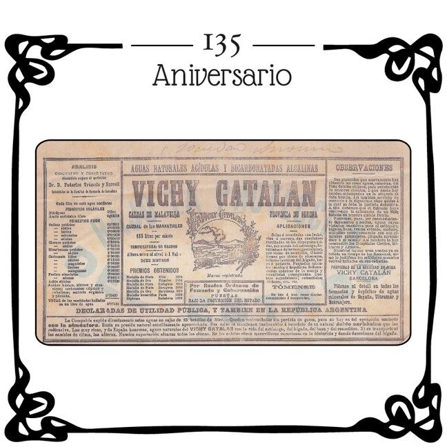 Primera etiqueta Vichy Catalán