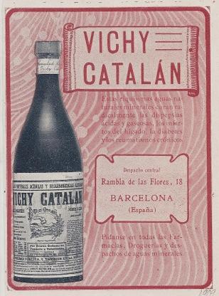Anuncio Vichy Catalán 1909