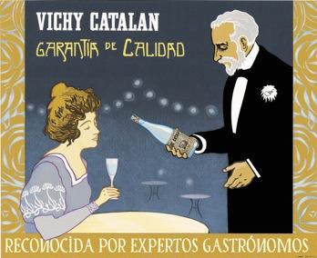 Cartel Vichy Catalán 'Garantía Calidad' Jordi Soldevila 2000