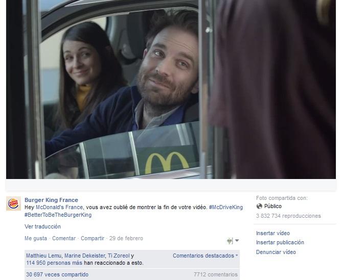 McDonalds - Burger King - respuesta-Facebook