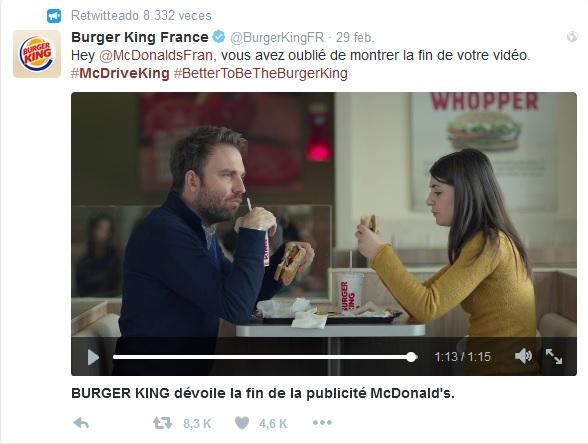 McDonalds - Burger King - tuit respuesta