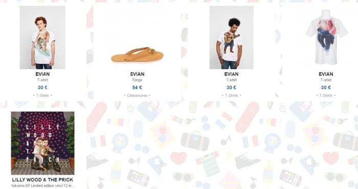 Evian - surf - tienda colette